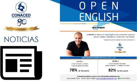Open English y CONACED, nuevo convenio para la formación.
