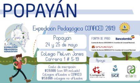 Popayán, Expedición Pedagógica CONACED 2019