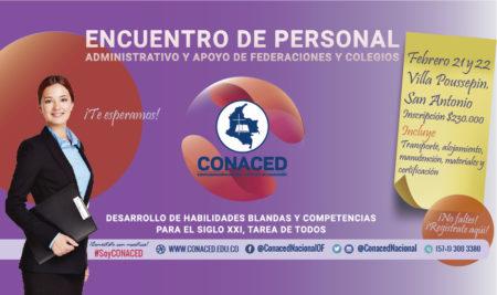Encuentro de personal administrativo y de apoyo de federaciones y colegios, CONACED 2020