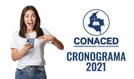 Cronograma de eventos CONACED 2021